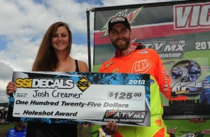 Josh Creamer (BCS Performance/ITP) took the moto two Pro Class holeshot, won the moto and finished second overall at round eight in New York