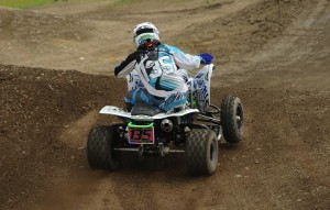 Haedyn Mickelson won two classes at round eight of the ATV MX series using ITP Quadcross motocross tires.