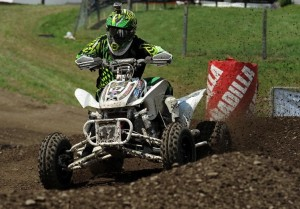 Blake Sarver used ITP tires to win the Schoolboy (13-15) class and podium in two other classes at round eight of the 2013 Mtn. Dew ATV MX Championship Series in New York.