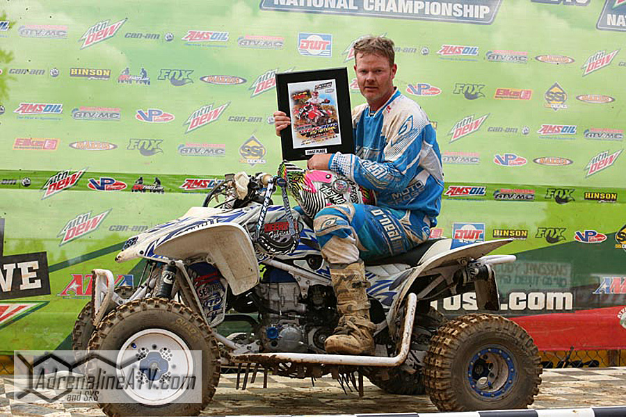 ITP support racer Ricky Deering won the Vet 30 Plus class at round nine using ITP Quadcross MX2 front tires and Quadcross MX Pro rear tires.