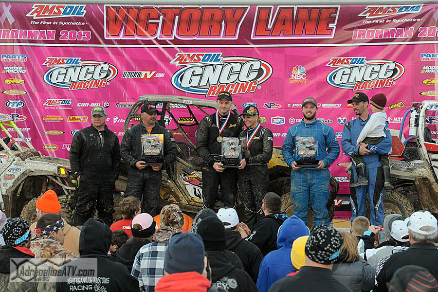 UTV podium: (left) Team Jacks, Team JB Off-Road/Can-Am, (right) Big Country Powersports Photo: Ken Hill