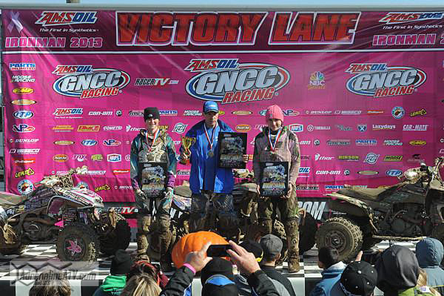 10 AM podium: (left) Kylie Ahart, Dave Simmons, (right) Cody Collier Photo: Ken Hill