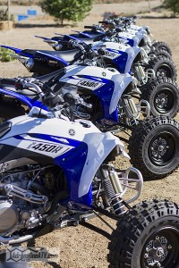 Topped off and ready to go! A full fleet of the new YFZR's were waiting to hit the track.