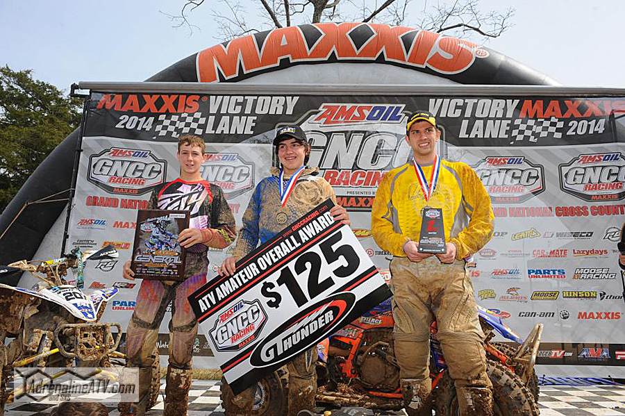 10 a.m. overall podium: (left) Westley Wolfe, Cody Collier, (right) Jordan PhillipsPhoto: Hill