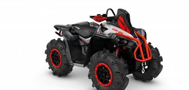 2016 Renegade X mr 1000R Hyper Silver, Black, Canam Red_3-4 front