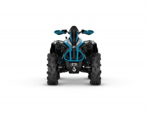 2016 Renegade X mr 1000R Hyper Silver, Black, Octane Blue_ front