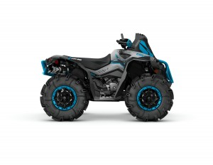 2016 Renegade X mr 1000R Hyper Silver, Black, Octane Blue_side